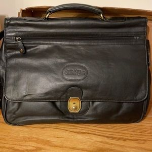 Bugatti brand briefcase/messenger style bag. Full leather